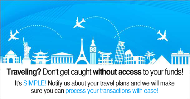 Funds access while traveling
