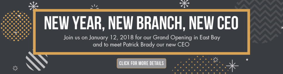 New Year. New Branch. New CEO.