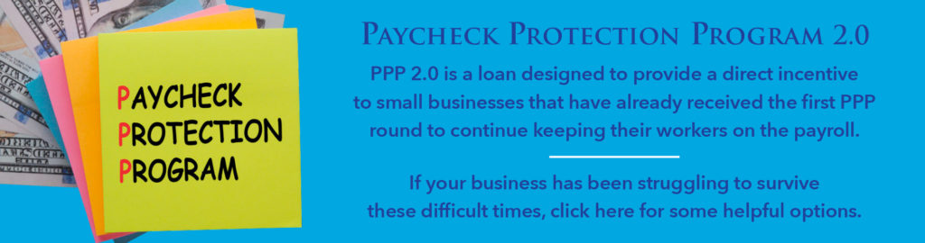 Payment Protection Program sticky notes with cash